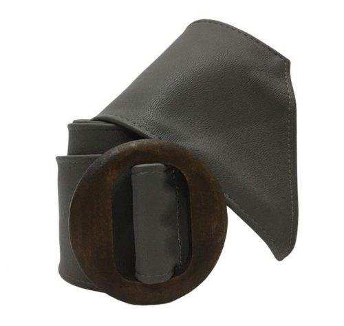 vista de cinturón ancho gris
