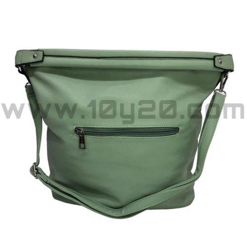 vista posterior de bolso aguamarina