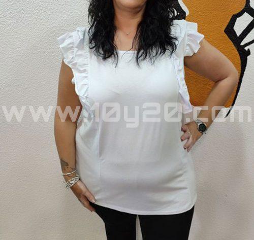 vista frontal de Camiseta blanca lazo